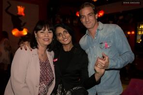 Elisabeth Deshayes, Sylvie Munos et Ludovic Chancel